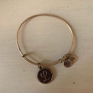 "Alex and ani ""L"" initial bangle"